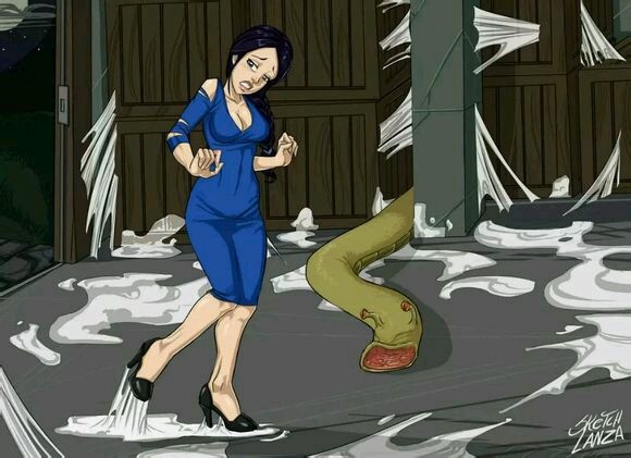 蟒蛇吃美女的模拟图 恐怖吧