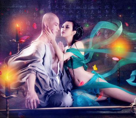 美女流浪汉的浪漫生活照片