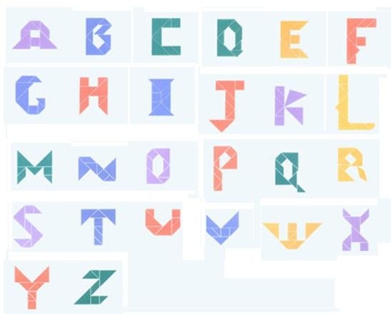 【七巧板】英文字母篇图片
