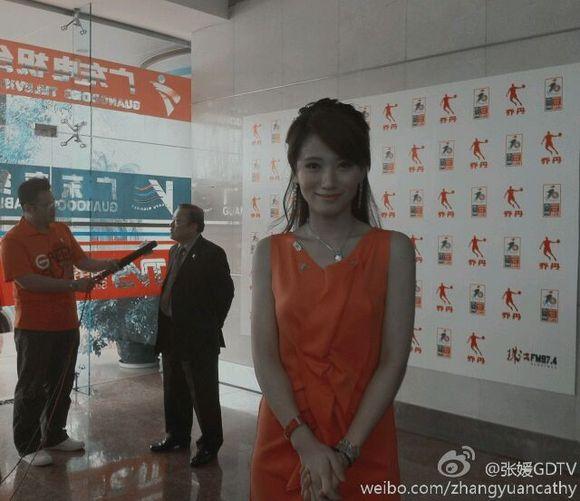 广体最漂亮的主持人 浙江美女张媛
