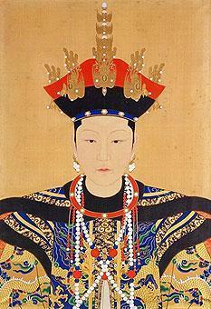 清朝历代皇后像_吉祥满族吧图片