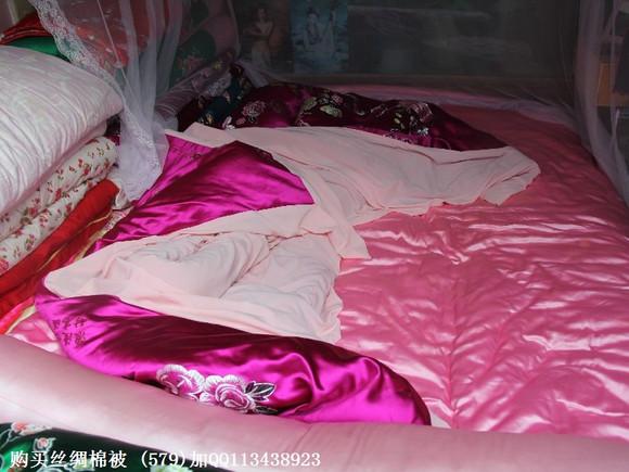 我家的丝绸绸缎棉被真丝软缎棉被