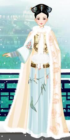 小游戏中的古装美女图片