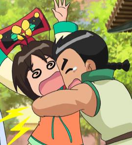 丝!!幸好你没事(泣)丝丝:阿阿阿~~~我的腰~~~ 柔柔 华伦救我!!高清图片