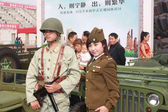 房展会上惊现国军美女