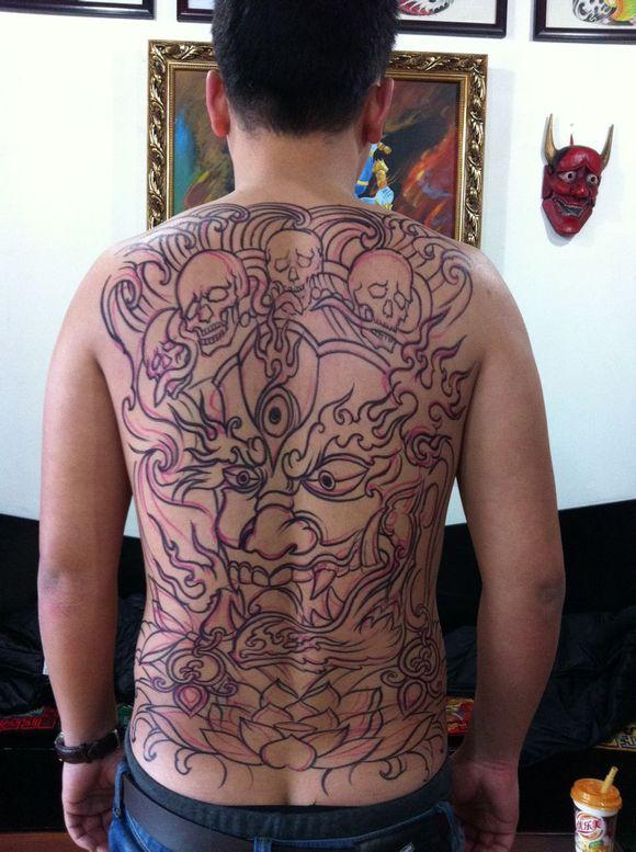 2015半甲花臂纹身图片