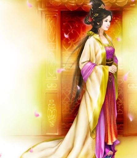 古风皇后古风漫画皇后手绘古装公主手绘古装美女服装图片
