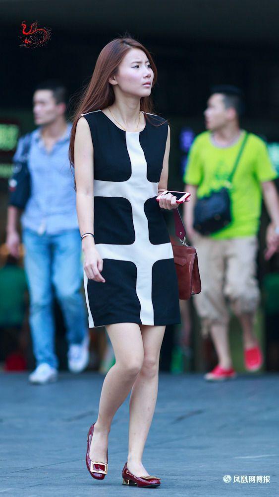 街拍重庆最时尚美女 安康吧 竖
