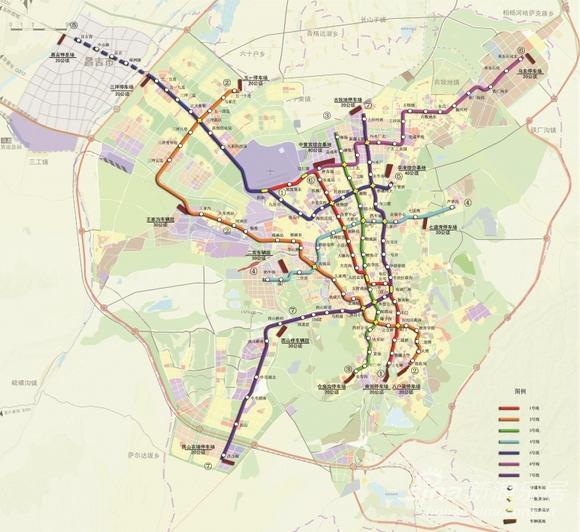 ś�复:乌鲁木齐地铁规划图,(昌吉有四站) ȥ�北吧 Ǚ�度贴吧