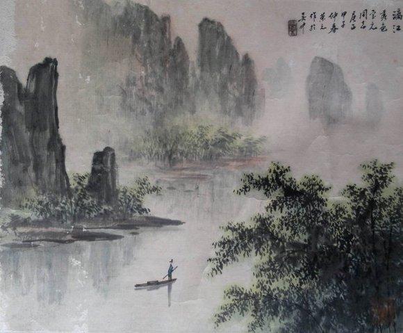 时而写江南的小桥流水图片