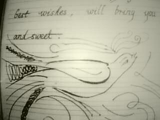起了面前的中性笔画了起来.好喜欢帖子里的鸟鸟哦,可惜我画得太