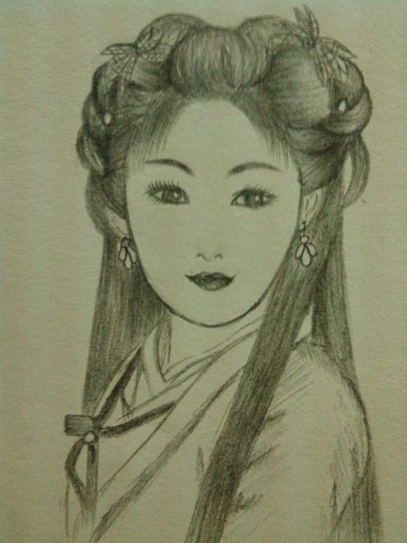 *【手绘】我画的古装美女《素描彩铅都有