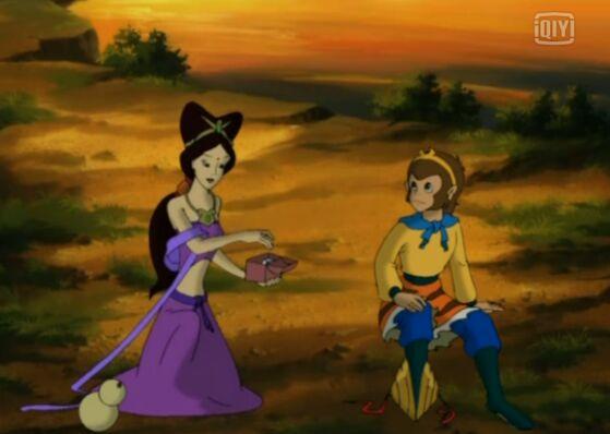 猴哥是不是喜欢这个紫衣仙子图片