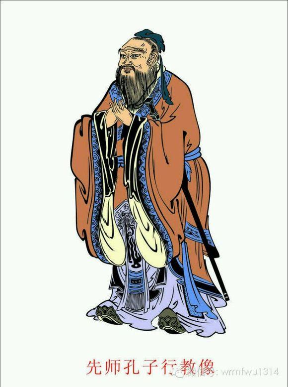 在孔子时代至今的中国传统文化图片