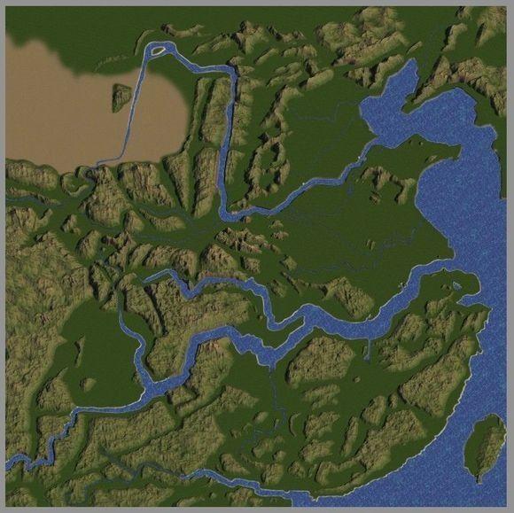 全国地图,地形地貌尽量按照实际地形制作,城池,关隘和战略据点都非常图片