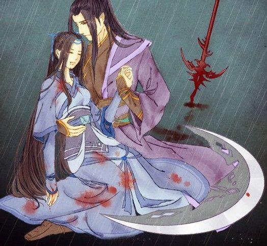 找情侣古代手绘一方受伤类似这样的能多贴一些这样的图片