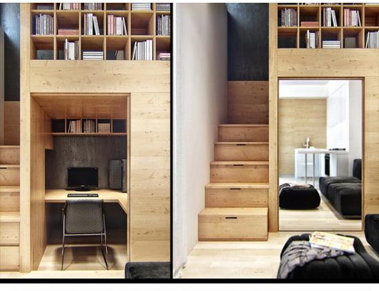左凡创意家具# 蜗居改造木系质感装修图片