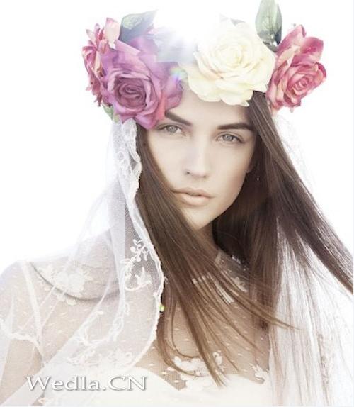 】波西米亚风格新娘造型图片