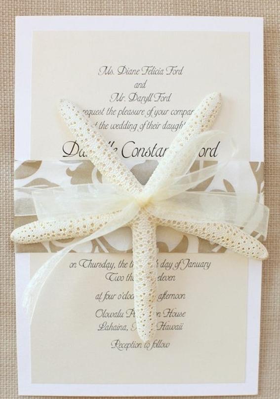 创意海洋主题婚礼请柬图片