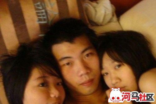三名初一女生与男网友开房玩4p
