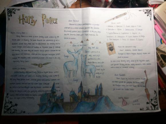 关于《哈利波特》的手抄报起什么题目好?还有边框画什么好?