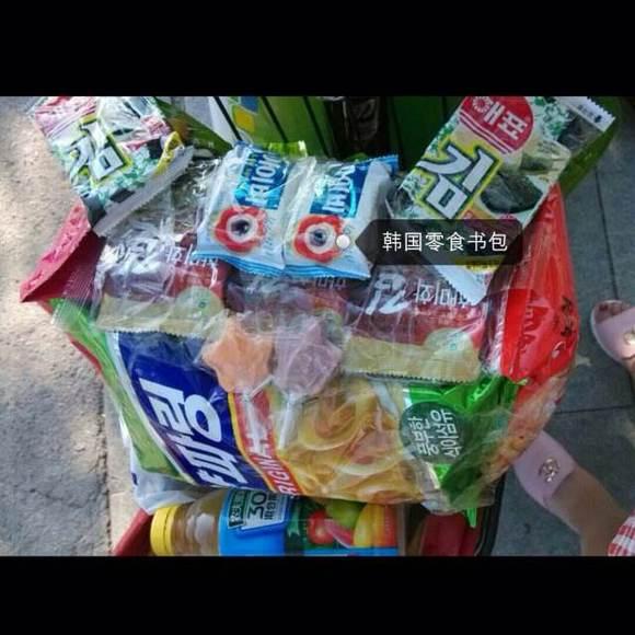 韩国零食背包 16种零食图片