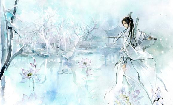 【求图】持剑的白衣男子图片