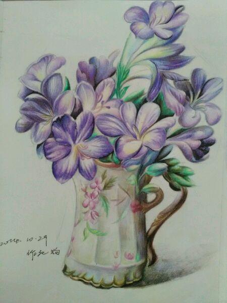 超写实油画 花卉彩铅临摹高清图片