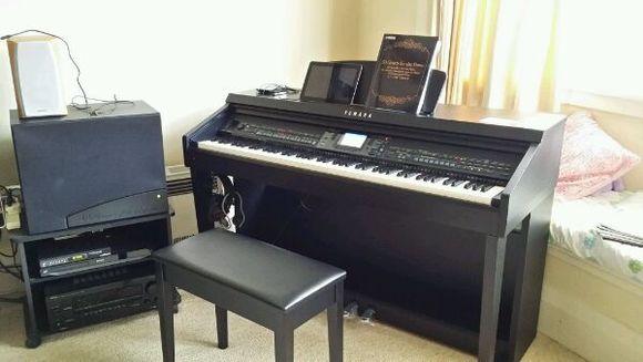 电钢琴接外接音箱和不接图片