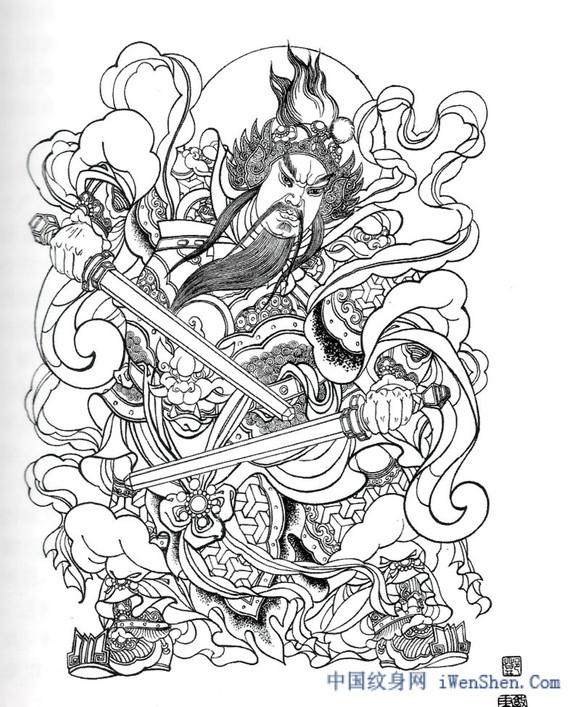 人物手稿素材_纹身吧_百度贴吧图片