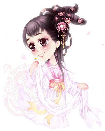 【素材】q版画古装美女