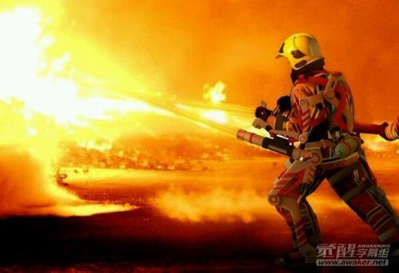 外骨骼设备让消防员