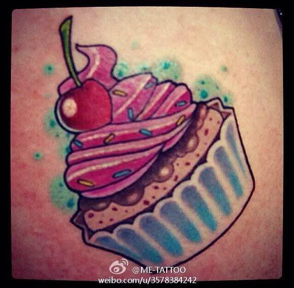 冰淇淋纹身图案_刺青吧
