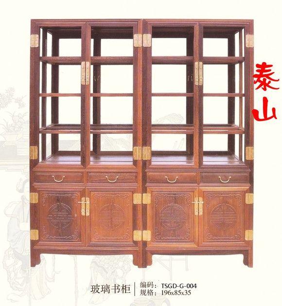 鸡翅木家具 红木书架 书橱柜图片