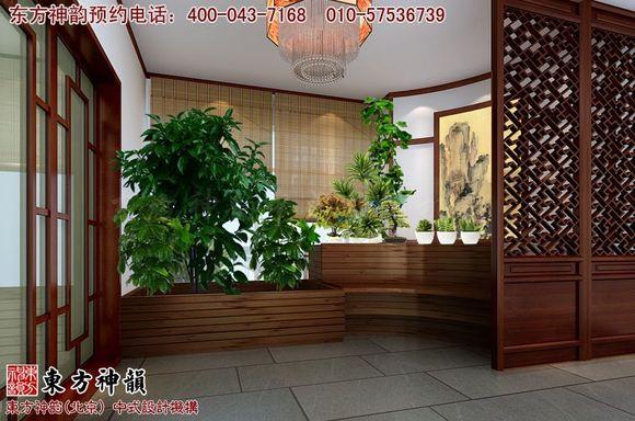 新中式阳台休闲区设计装修效果图图片