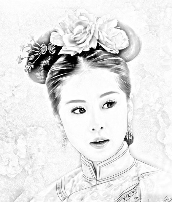 古装贴图 *【受贿】漂亮的古装美女手绘图图片