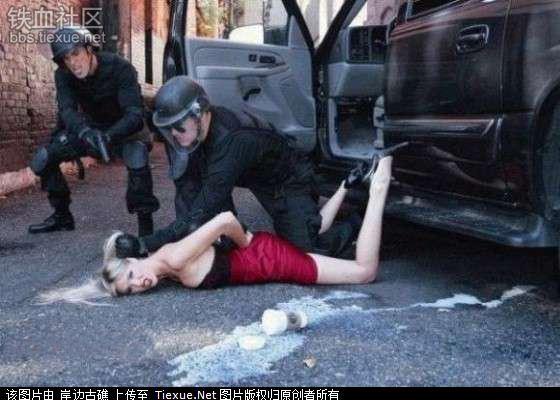 暴力抓罪犯美女 我艹