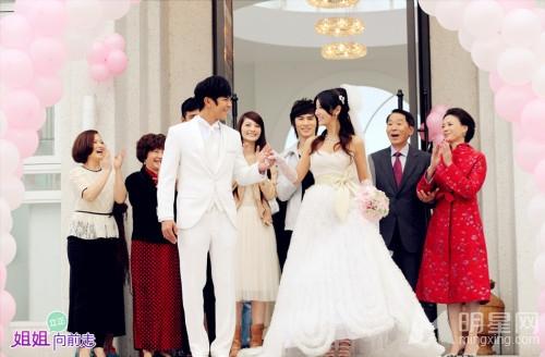 林心如汪东城晒结婚照图片