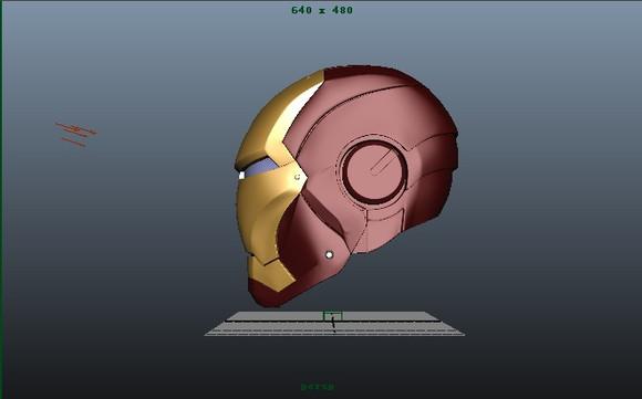发福利 钢铁侠头盔3d图纸 铁人吧 百度贴吧 高清图片