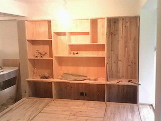 3设计师上门量尺寸优化设计5家装木工出场,油漆墙面做好榻榻米就可以图片