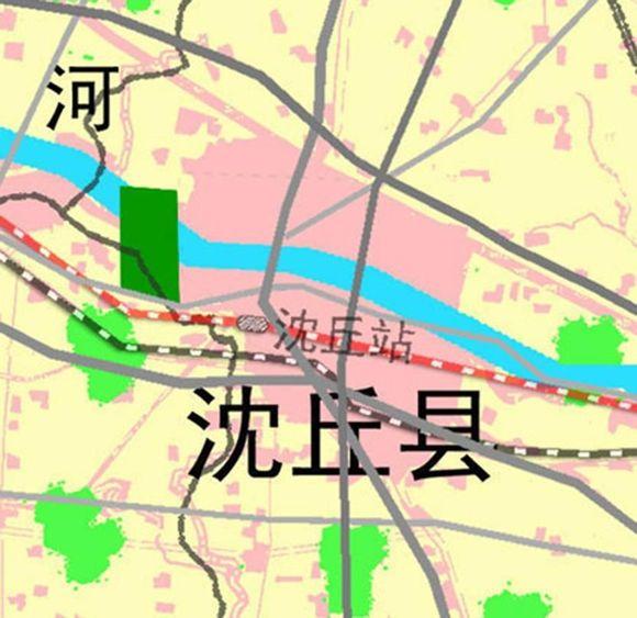 【四站】其中扶沟站、周口东站、沈丘站在红色郑合高铁上,项城站