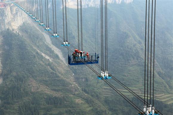 照片 描述 矮 寨 特大 悬 索桥 位于 湖南 湘西 矮 寨 ...