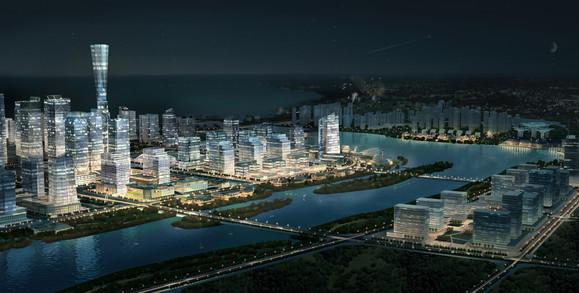 再上几张连云新城的规划图吧新城鸟瞰图:高清图片