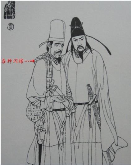 李白和杜甫的头像简笔画图片