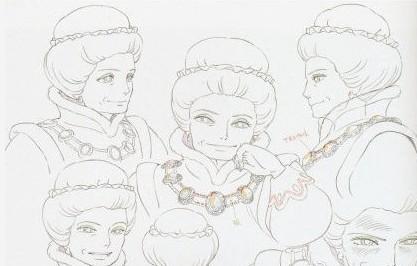 宫崎骏动画手绘原稿图片