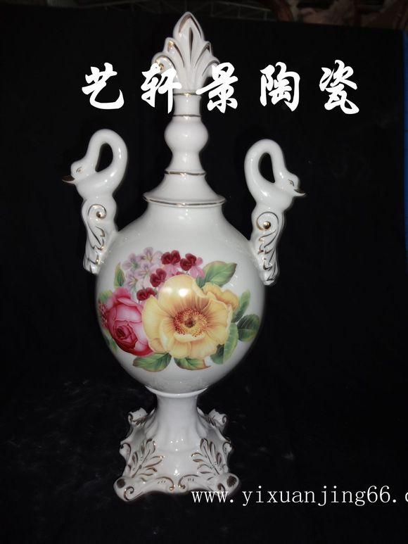 欧式描金陶瓷摆件 各种花瓶图片