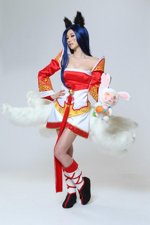 景岚cosplay lol九尾妖狐阿狸 张景岚吧 百度贴吧 高清图片