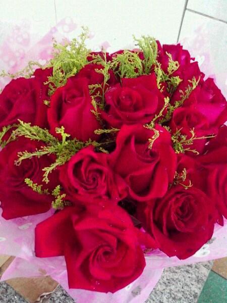 今天过生日,老公送的玫瑰图片