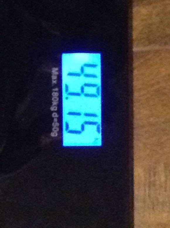 马勒戈壁我这不忍直视的体重!(;_;)图片