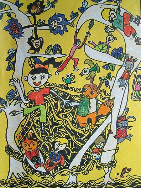 儿童画 450_600 竖版 竖屏图片